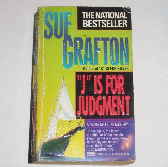 J is for Judgment by SUE GRAFTON Kinsey Millhone Mystery Paperback 1993