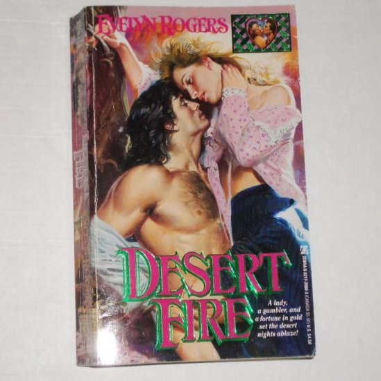 Desert Fire by EVELYN ROGERS Historical Western Romance 1992