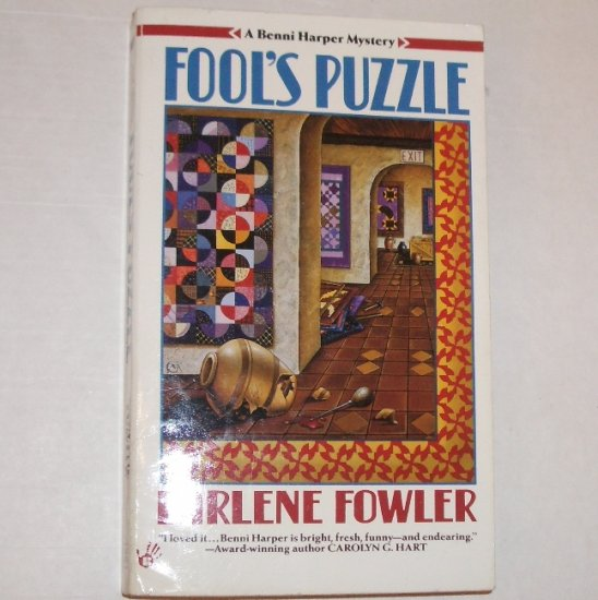 Fool's Puzzle by EARLENE FOWLER A Prime Crime Benni Harper Cozy Mystery 1995