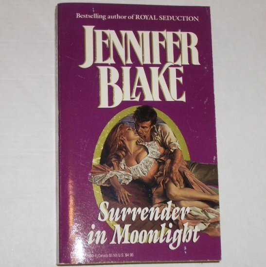 Surrender in Moonlight by JENNIFER BLAKE Historical Civil War Romance 1988