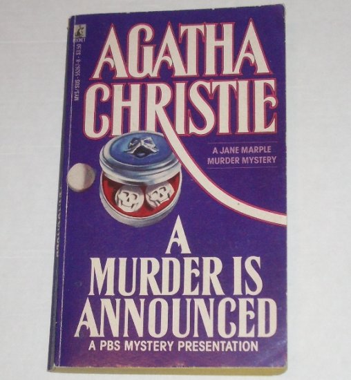 A Murder is Announced by AGATHA CHRISTIE A Jane Marple Mystery 1987