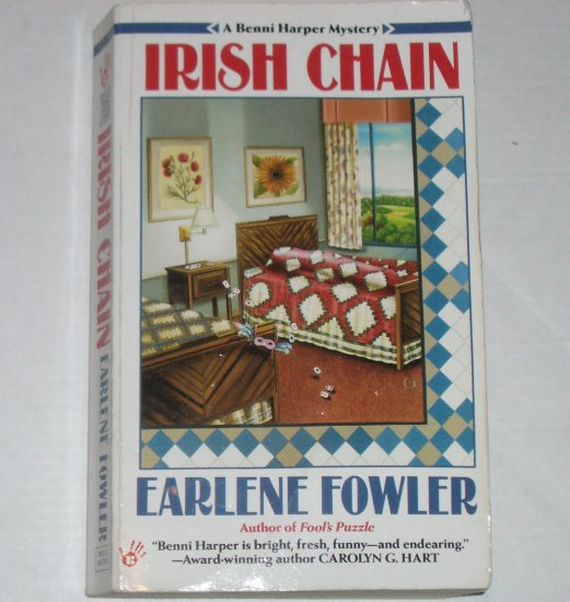 Irish Chain by EARLENE FOWLER A Berkley Prime Crime Benni Harper Cozy Mystery 1996