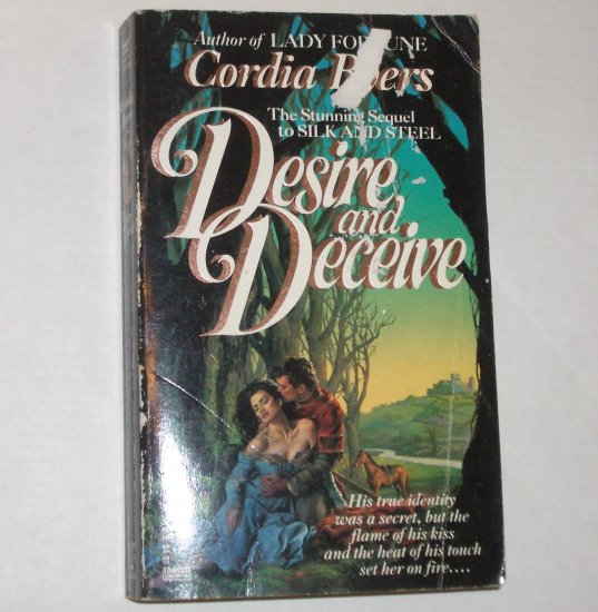 Desire and Deceive by CORDIA BYERS Historical Medieval Romance 1990