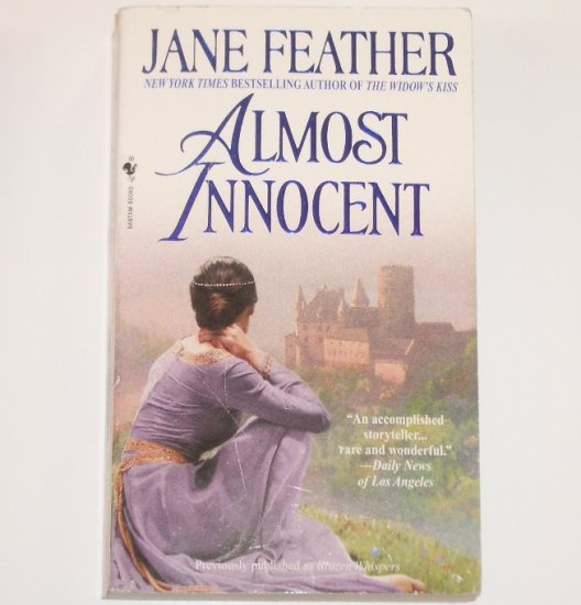 Almost Innocent by JANE FEATHER Historical Medieval Romance 2001 Almost Series