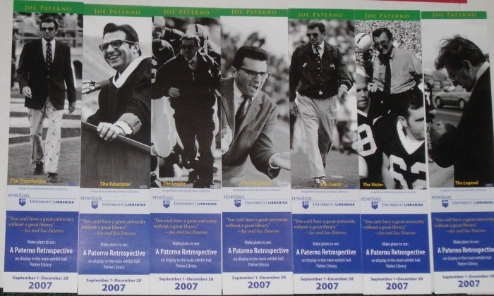 Collectible Joe Paterno Penn State Bookmark Set from 2007