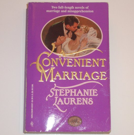 Convenient Marriage by STEPHANIE LAURENS 2-in-1 English Regency Romance 1996 Lester Family Series
