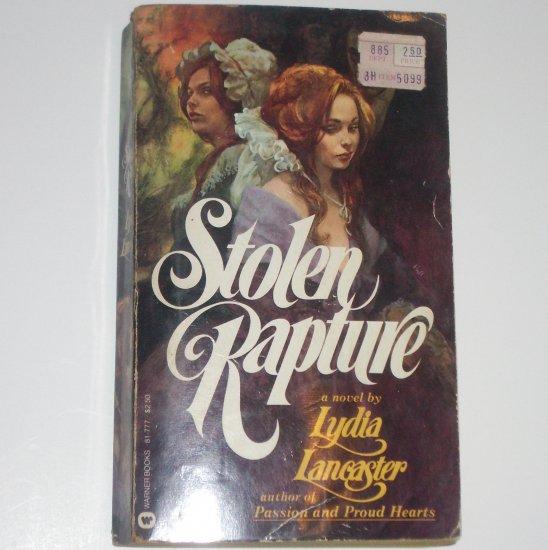 Stolen Rapture by LYDIA LANCASTER Historical Romance 1978