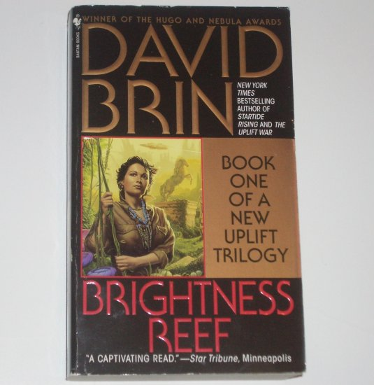 Brightness Reef by DAVID BRIN Uplift Trilogy 1996 Science Fiction
