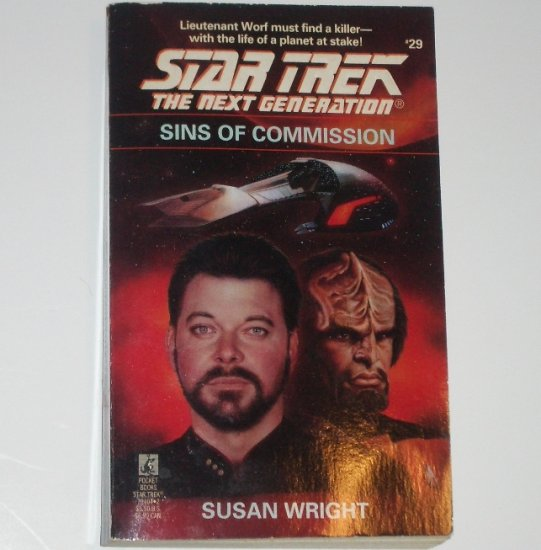 Sins of Commission Star Trek The Next Generation #29 by SUSAN WRIGHT 1994