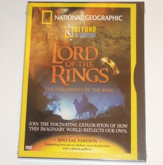 National Geographic Beyond the Movie The Lord of the Rings The Fellowship DVD New