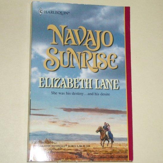Navajo Sunrise by ELIZABETH LANE Harlequin Historical Indian Western Romance No. 608 2002