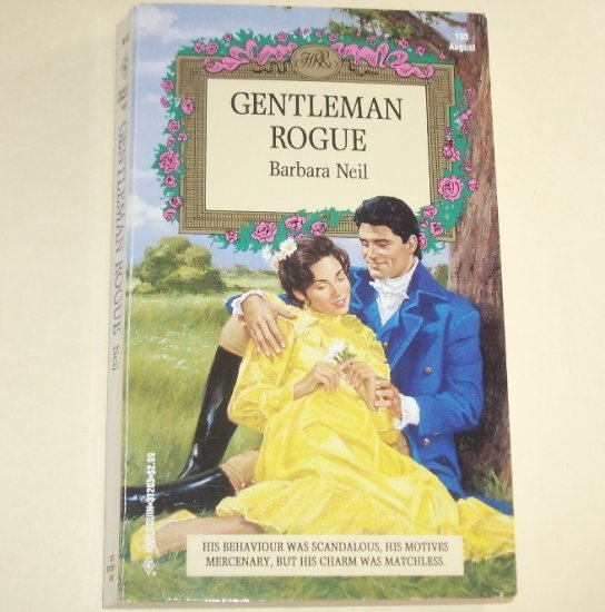 Gentleman Rogue by BARBARA NEIL Harlequin Historical Regency Romance 1993