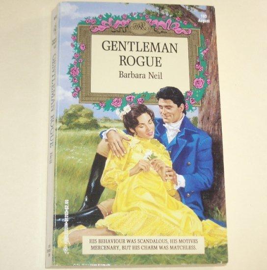 Gentleman Rogue by BARBARA NEIL Harlequin Historical Regency Romance 1993