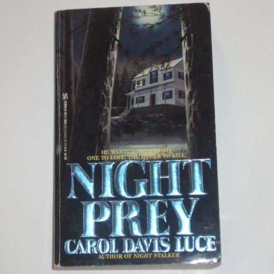 Night Prey by CAROL DAVIS LUCE Suspense Thriller 1992