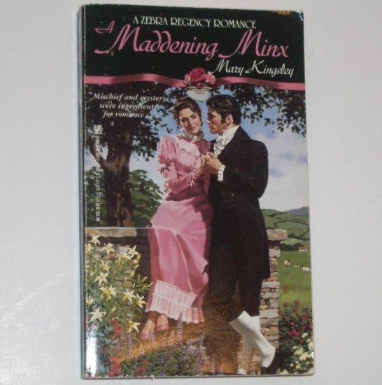 A Maddening Minx by MARY KINGSLEY Zebra Regency Romance 1992