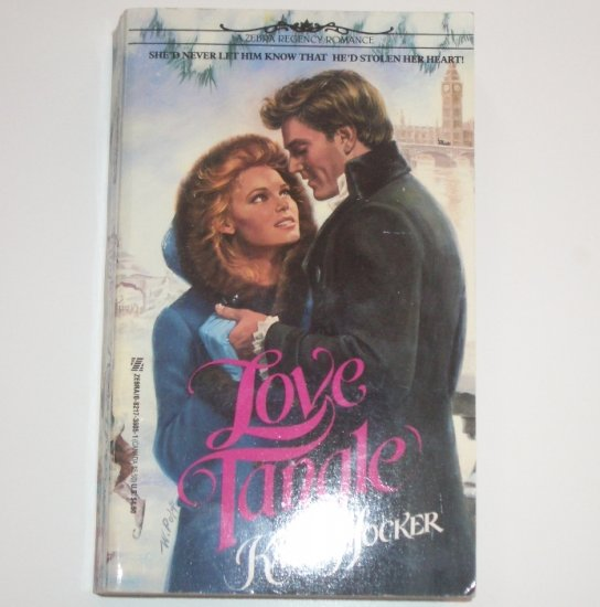Love Tangle by KARLA HOCKER Zebra Historical Regency Romance 1991