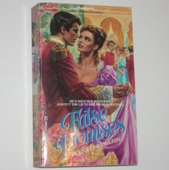 False Promises by VIOLET HAMILTON Zebra Regency Romance 1992