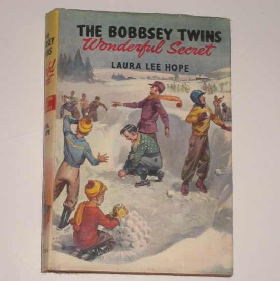 The Bobbsey Twins Wonderful Secret by LAURA LEE  HOPE Hardcover with Dust Jacket 1955
