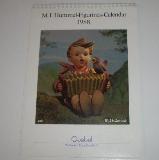 M I Hummel Figurines Calendar 1988
