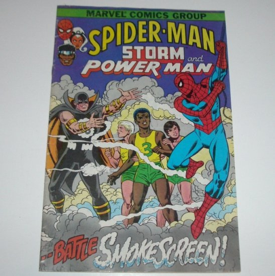 Spider-Man Storm and Power Man Battle Smokescreen 1982