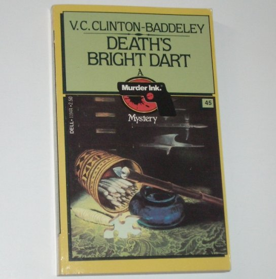 Death's Bright Dart by V C CLINTON-BADDELEY A Murder Ink. Mystery #45 1982 Cozy