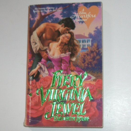 Fiery Virginia Jewel by ELIZABETH LEIGH Zebra Heartfire Historical Colonial Romance 1991