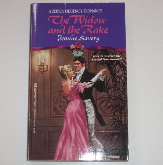 The Widow and the Rake by JEANNE SAVERY Zebra Historical Regency Romance 1993