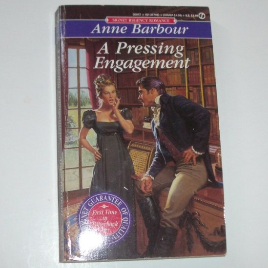 A Pressing Engagement by ANNE BARBOUR Signet Historical Regency Romance 1992