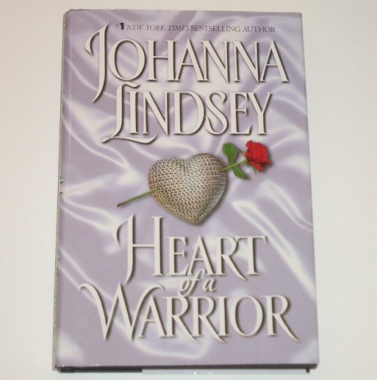 Heart of a Warrior by JOHANNA LINDSEY Paranormal Time Travel Romance Hardback DJ 2001