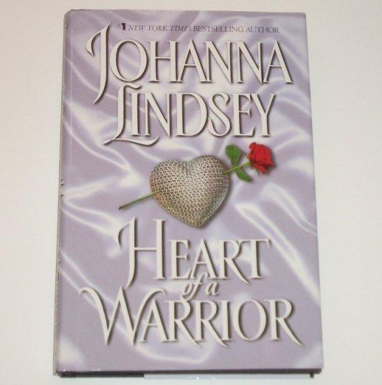 Heart of a Warrior by JOHANNA LINDSEY Paranormal Time Travel Romance Hardback DJ 2001