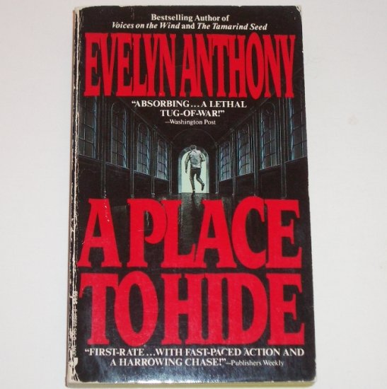 A Place to Hide by EVELYN ANTHONY Thriller 1989