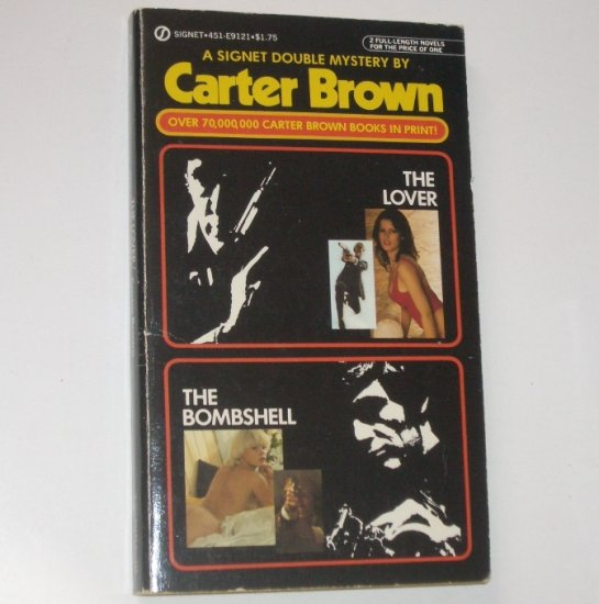 The Lover and The Bombshell by CARTER BROWN Signet Double Mystery 1980