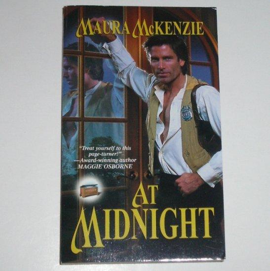 At Midnight by MAURA McKENZIE Zebra Ballad Time Travel Romance 2001