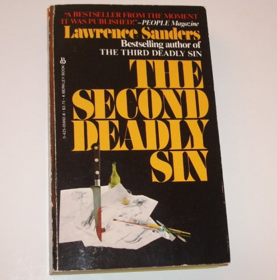 The Second Deadly Sin by LAWRENCE SANDERS Mystery 1982 Iron Balls Delaney Series