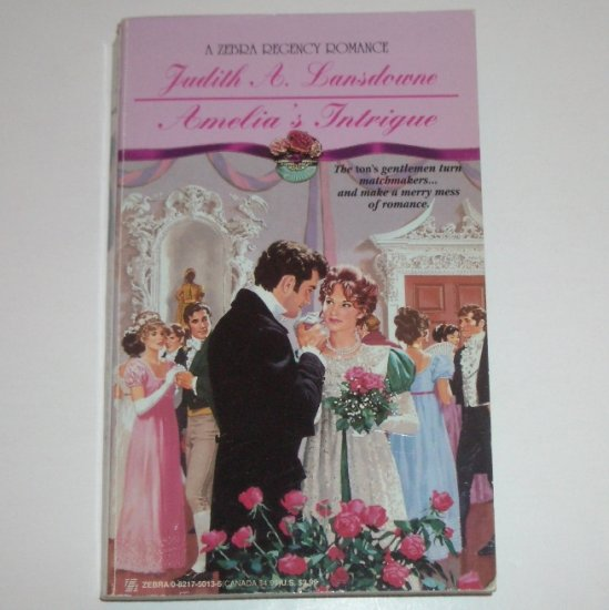 Amelia's Intrigue by Judith A. Lansdowne Slim Zebra Historical Regency Romance 1995
