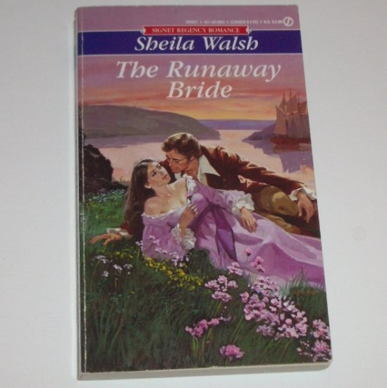 The Runaway Bride by SHEILA WALSH Signet Historical Regency Romance 1983