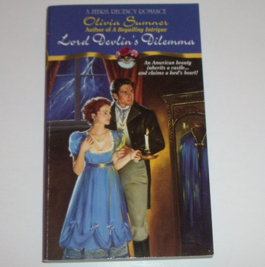 Lord Devlin's Dilemma by OLIVIA SUMNER Zebra Historical Regency Romance 1995