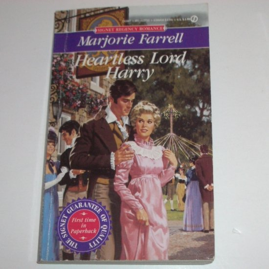 Heartless Lord Harry by MARJORIE FARRELL Signet Historical Regency Romance 1993