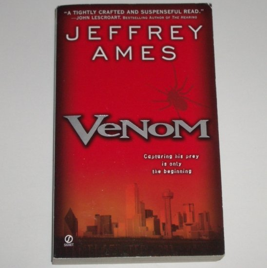 Venom by JEFFREY AMES Suspense Thriller 2002