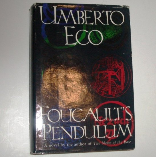Foucault's Pendulum by UMBERTO ECO Hardcover Dust Jacket 1989