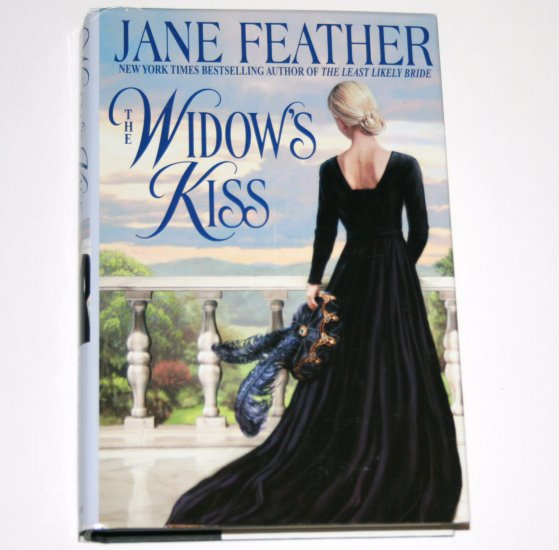 The Widow's Kiss by JANE FEATHER Hardcover Dust Jacket 2001 Medieval Romance