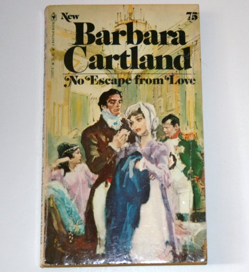 No Escape from Love by BARBARA CARTLAND 1977 French Setting Romance Bantam No 75