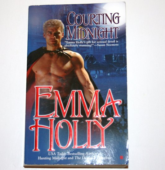 Courting Midnight by EMMA HOLLY Historical Paranormal Vampire Romance 2005 The Upyr Series