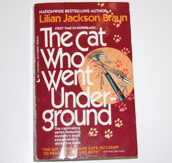 The Cat Who Went Underground by LILIAN JACKSON BRAUN Cozy Mystery 1989