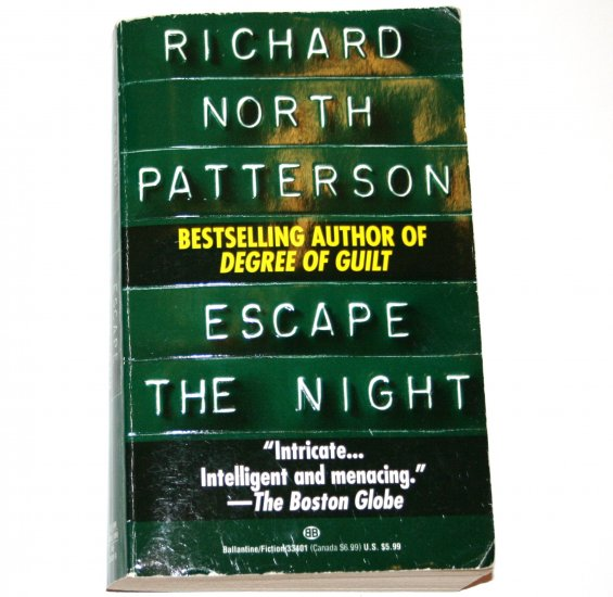 Escape the Night by RICHARD NORTH PATTERSON 1984 Psychological Thriller