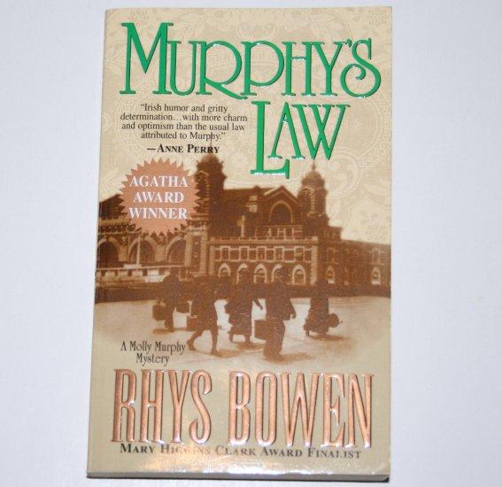 Murphy's Law by RHYS BOWEN A Molly Murphy Historical Mystery 2002 Agatha Award Winner