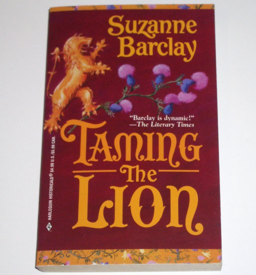 Taming the Lion SUZANNE BARCLAY Historical Medieval Scottish Romance 1999 Sutherland Series