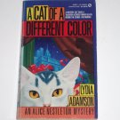 A Cat of a Different Color by LYDIA ADAMSON An Alice Nestleton Cozy Mystery 1991