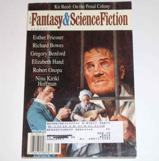 Fantasy & Science Fiction Magazine August 1998 Volume 95, No. 2
