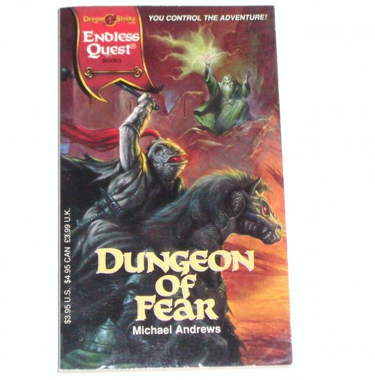 Dungeon of Fear by MICHAEL ANDREWS Fantasy Adventure 1994 Endless Quest Series